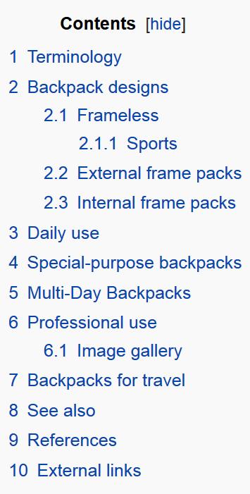 Contenidos de Wikipedia