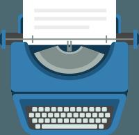 icono de máquina de escribir