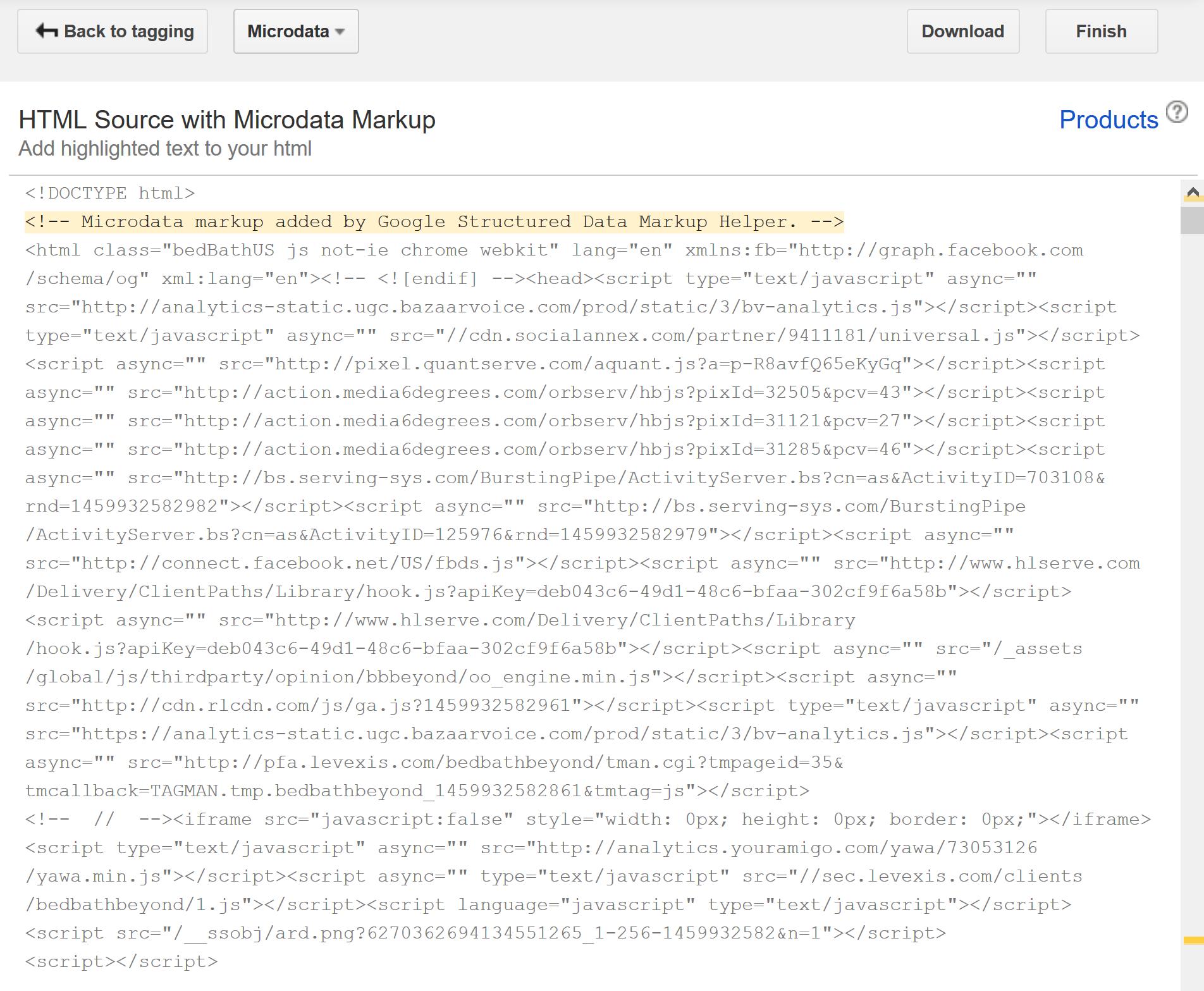 marcado de esquema html
