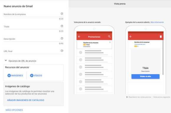 anuncio de gmail